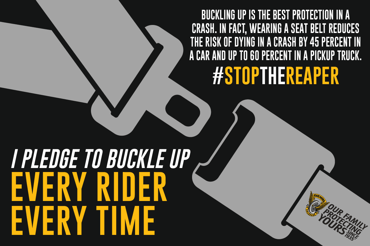 Buckle up Pledge with Information About Seatbelt Safety