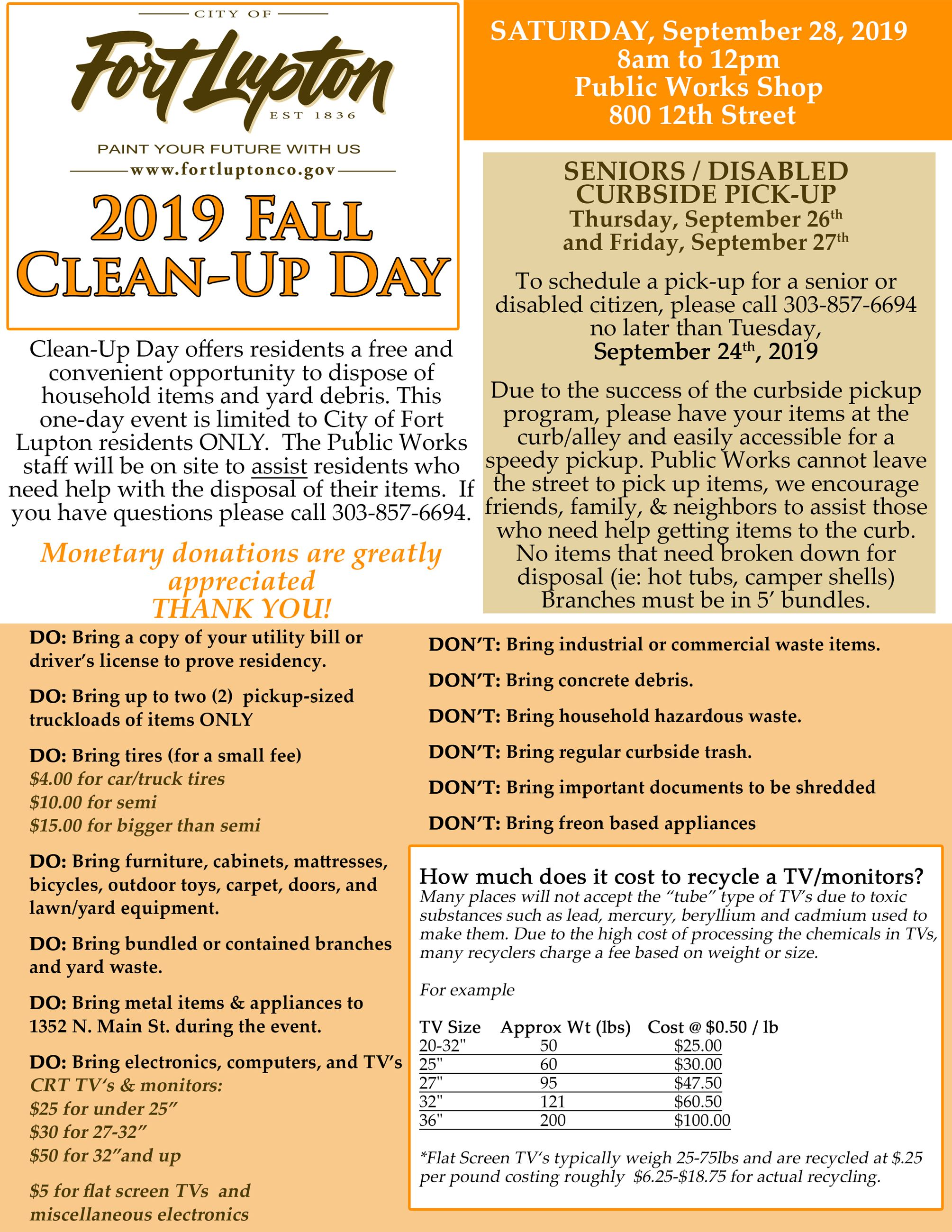 Fall Clean Up Flyer 2019