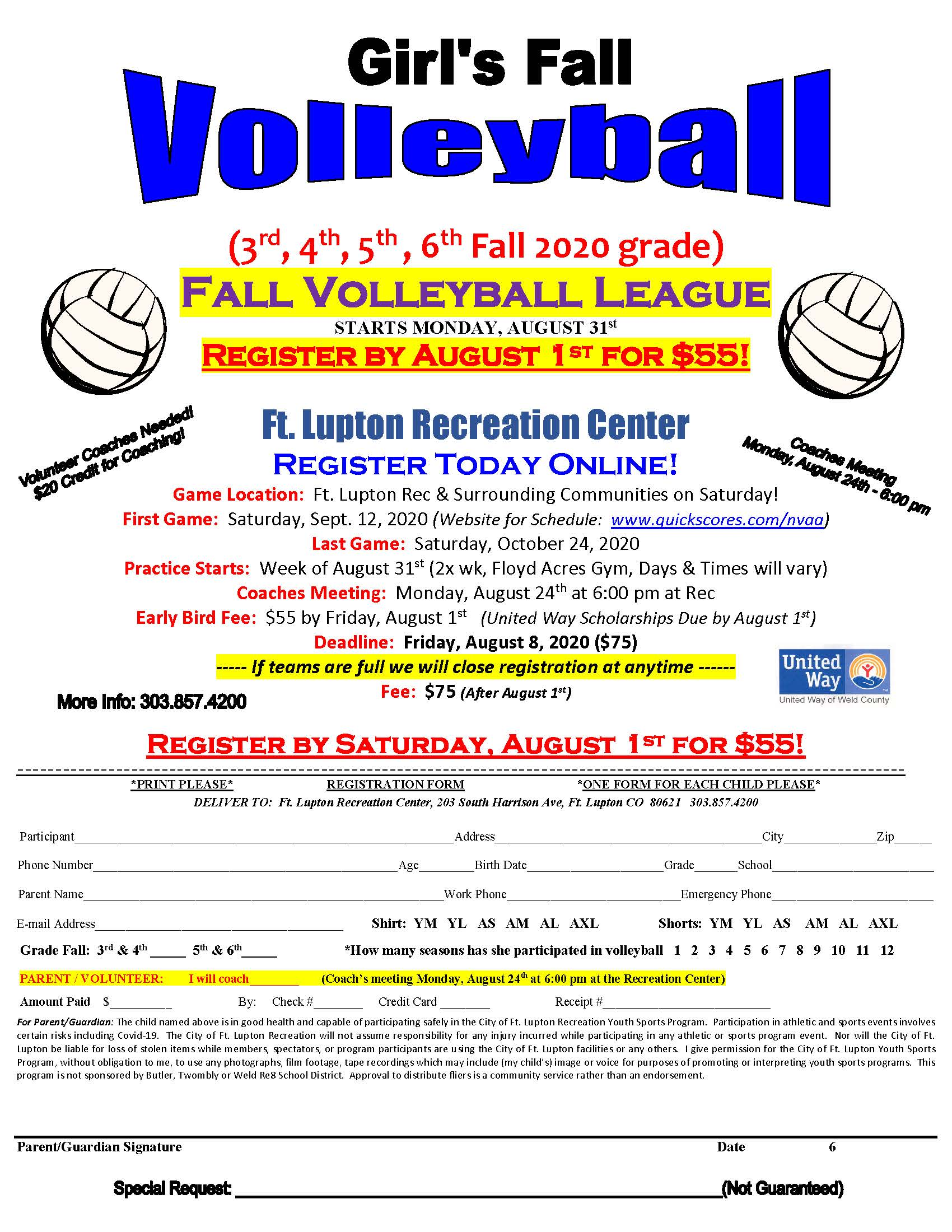 Fall Volleyball Flyer 2020